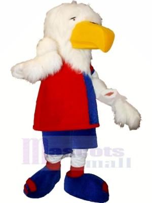 Mignonne blanc Aigle Mascotte Les costumes Dessin animé