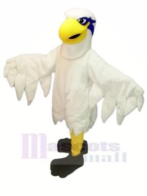 blanc Poids léger faucon Mascotte Costume Dessin animé
