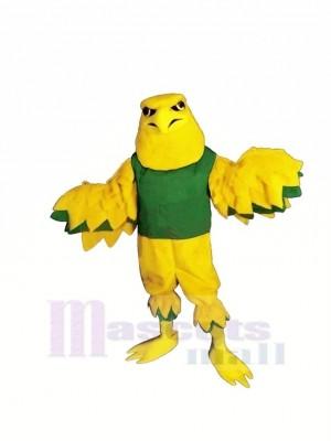 Jaune Aigle avec vert Gilet Mascotte Les costumes Dessin animé