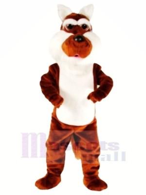 Drôle marron Coyote Mascotte Déguisements Dessin animé