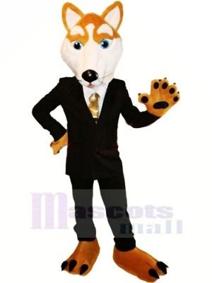 Gentleman Loup avec Costume Mascotte Déguisements Dessin animé
