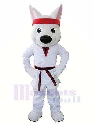Sport Weiß Wolf Maskottchen Kostüme Karikatur