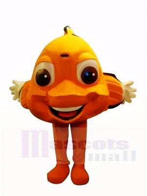 Mignonne Orange Poisson clown Mascotte Costume Dessin animé