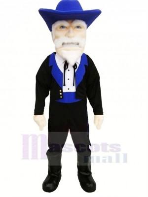 Colonel avec Bleu Chapeau Mascotte Costume Gens