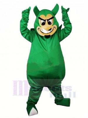 Laid vert Diable Mascotte Costume Dessin animé