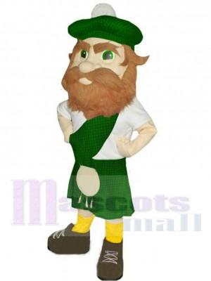 montagnard avec Chapeau vert Costume de mascotte Gens