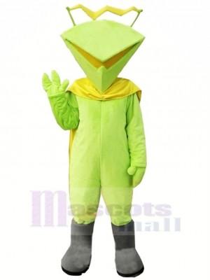 Marrant Martien dans vert Mascotte Costume Dessin animé