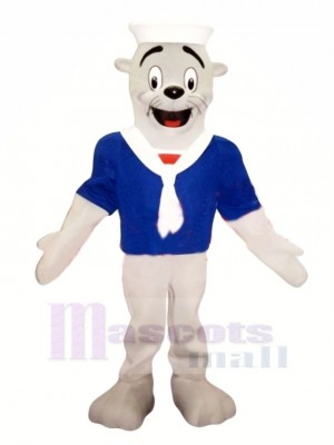 Joint avec Bleu T-shirt Mascotte Costume Dessin animé