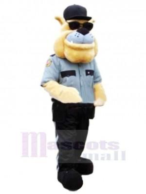 Police Chien Avec Des lunettes de soleil Mascotte Costume Dessin animé