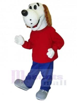 Chien de sauvetage Costume de mascotte Animal en manteau rouge