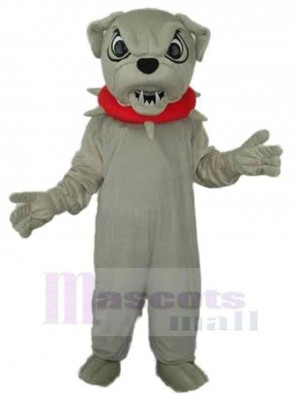 Chien gris en colère Costume de mascotte Animal
