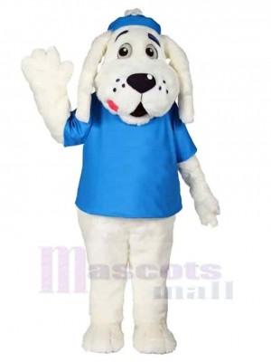 Slush Puppie Chien Costume de mascotte Animal en T-shirt bleu