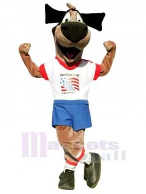 Chien de football heureux Costume de mascotte Animal
