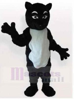 Chat noir et blanc drôle Combinaison Costume de mascotte Animal