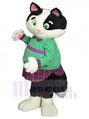 Gros chat Costume de mascotte Animal en vêtements verts