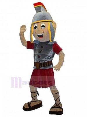 Heureux chevalier spartiate avec casque Pylos Costume de mascotte Personnes