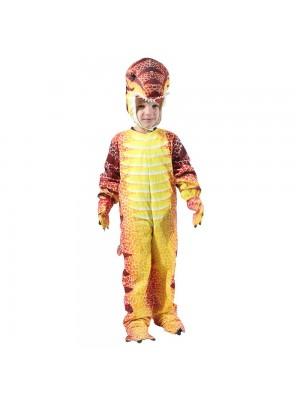 rouge T-Rex Dinosaure Costume Dinosaure Combinaison Halloween Noël Robe en haut Cadeau pour Enfant