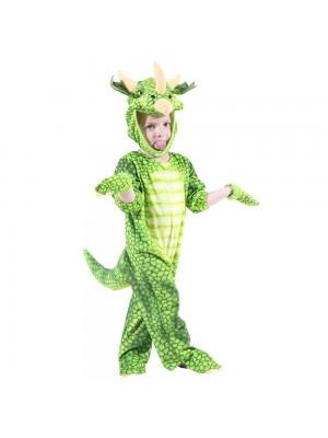 vert Triceratops Dinosaure Costume Dinosaure Combinaison Halloween Noël Robe en haut Cadeau pour Enfant
