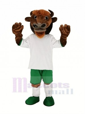 marron Buffle Bison Mascotte Costume Animal