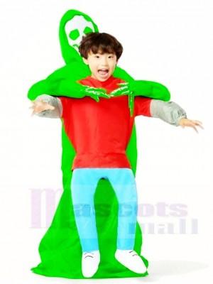 vert Extraterrestre Porter moi Monstre Gonflable Halloween Noël Les costumes pour Des gamins