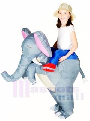 Gris l'éléphant Porter moi Balade Sur Gonflable Halloween Noël Les costumes pour Des gamins