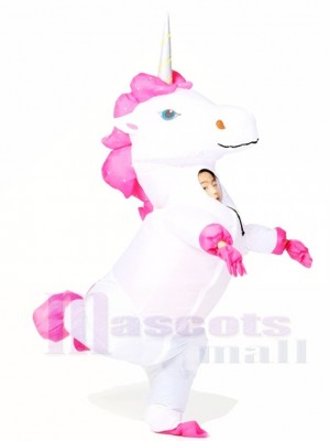 blanc Licorne Gonflable Halloween Noël Les costumes pour Des gamins