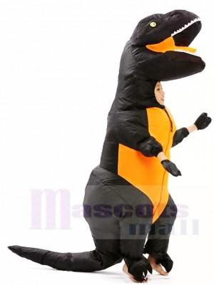 Noir T-REX Dinosaure Gonflable Halloween Noël Les costumes pour Des gamins