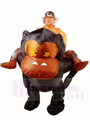 Balade sur Gorille Singe Orang-outan Gibbon Chimpanzé Gonflable Halloween Noël Les costumes pour Adultes