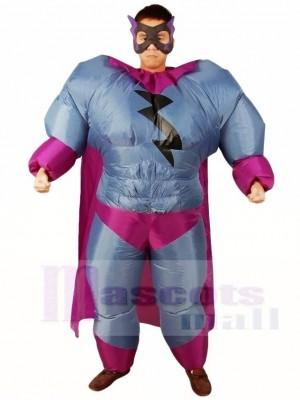 Graisse Superman Gris Super héros Gonflable Halloween Noël Les costumes pour Adultes