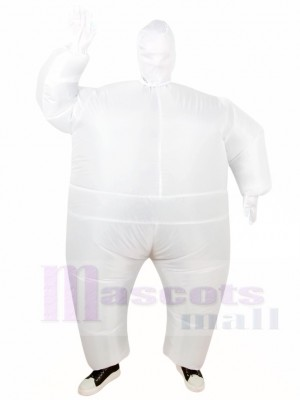 blanc Plein Corps Costume Gonflable Halloween Noël Les costumes pour Adultes