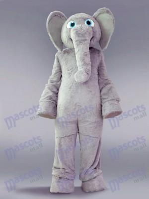 Costume de mascotte d'éléphant gris Animal