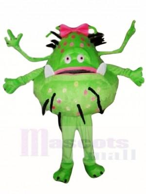 Vert Bactérien Germe Extraterrestre Fille Mascotte Les Costumes