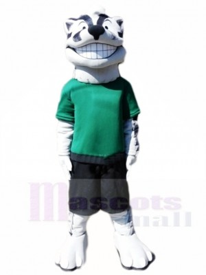 Souriant Blaireau Sportif Mascotte Costumes Animal