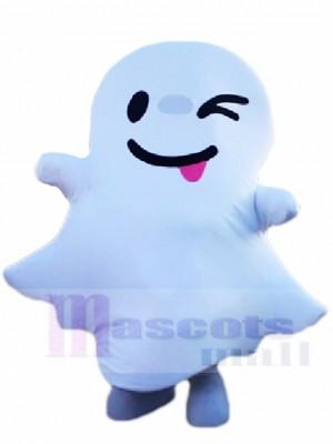 Un clin d'oeil blanc Fantôme Esprit Mascotte Les costumes Halloween