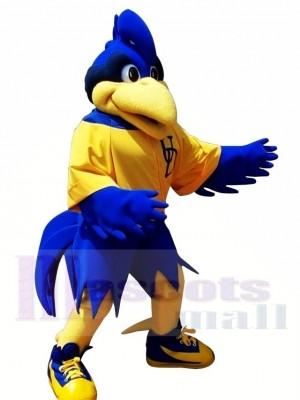Mouvement Bleu Coq Gros oiseau Costume de mascotte