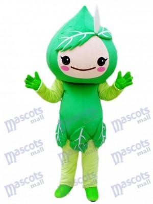 Usine de costume de mascotte de feuilles vertes