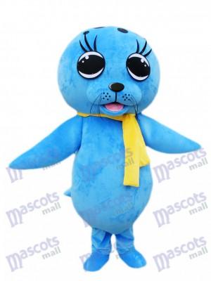 Déguisement de mascotte de lion de mer bleue Océan