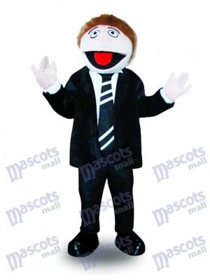 Costume de mascotte de costume noir homme Cartoon