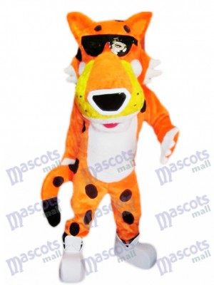 Orange Costume Mascotte Cheetah Orange Animal
