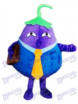 Purple Aubergine Père Costume De Mascotte De Légumes Plante Alimentaire