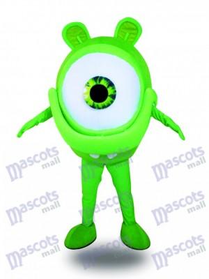 Costume de mascotte de publicité de protection de vue d'oeil de verres verts