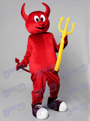 Costume de mascotte de diable maléfique de Halloween rouge Cartoon Anime