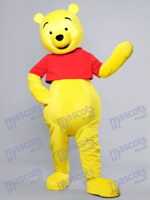 Visage heureux Winnie l'ourson Ours Mascotte Costume Cartoon Anime