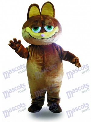 Costume de chat mascotte chat marron adulte
