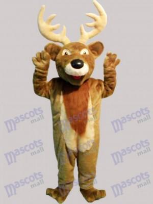 Costume de mascotte de cerf de Noël