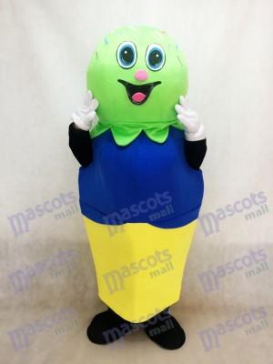Double Scoop (vert et bleu) sur une crème de mascotte Cone Cone Costume