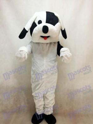 Costume adulte mascotte chien noir et blanc Animal
