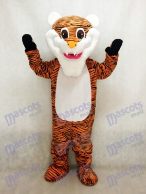 Costume de mascotte de tigre de barbe blanche