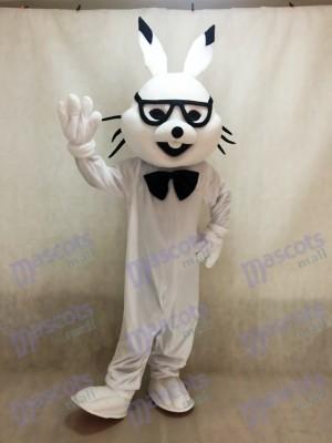 Costumes de mascotte de lapin de Pâques blanc bugs de lapin