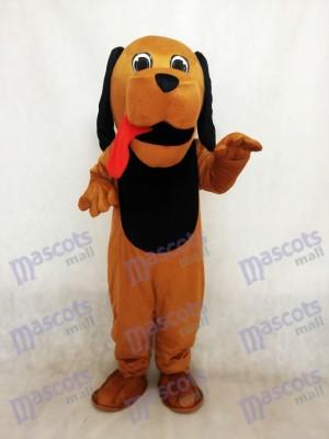 Nouveau costume de mascotte de chien de langue rouge de chien